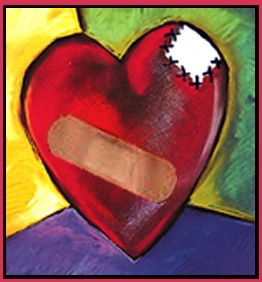 Healing the wounds of the heart... so much emotional pain . Photo found at lciministry.org/trauma