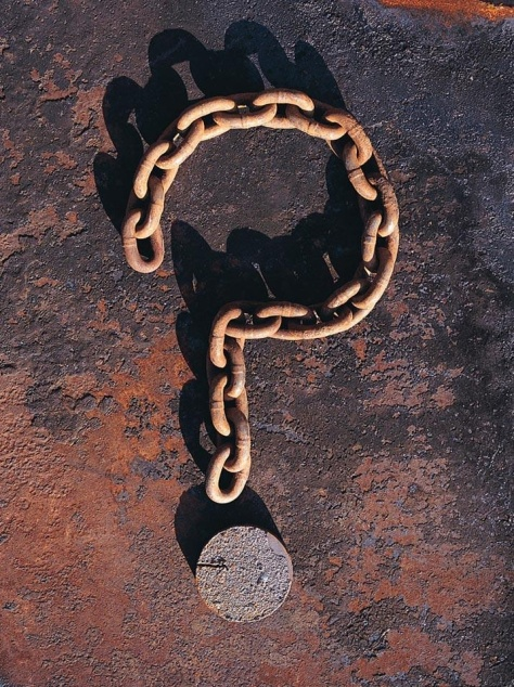 Do you really need those chains?? What would happen if you got rid of them? How would it feel to be free? Ask yourself lots of questions, and learn to think for yourself. Your freedom can be worth the effort, and yes, you can gain freedom from your abuse.