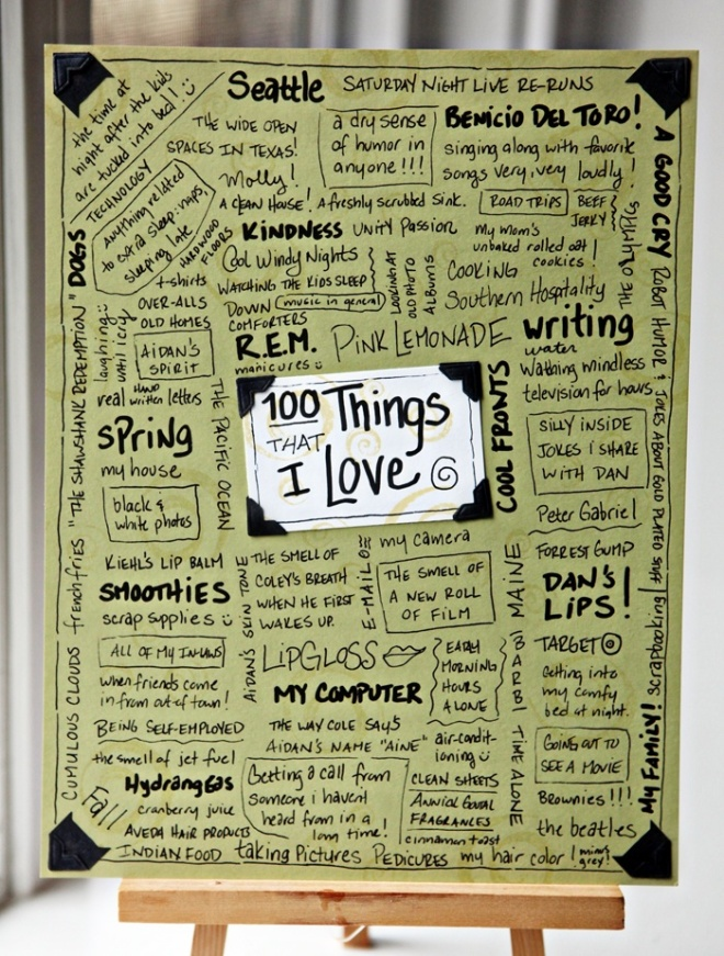 100 Things I Love
