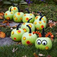 Fun caterpillar pumpkins, found on the SJCPL Blog