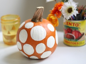 Polka dot pumpkin found at momtastic.com
