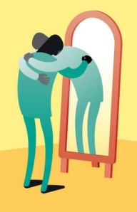 Be kind to yourselves.... even those that come from the other side of the mirror.