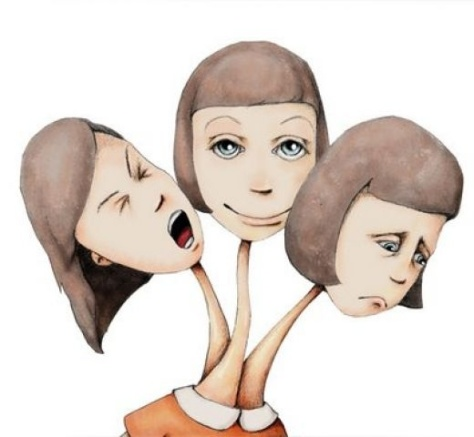 This vibrant, demonstrative picture of Dissociative Identity Disorder was found at Suzanne's Mindscape at Suzannesmindscape.blogspot.com.au