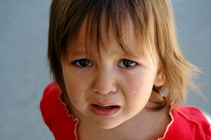 Upset Little Girl