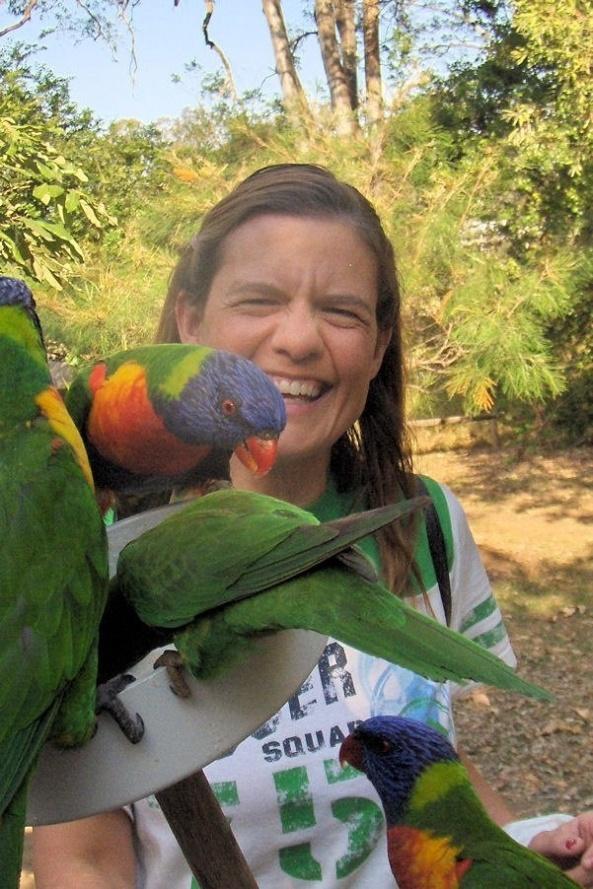 Having fun with Rainbow Birds!