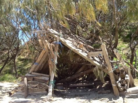 Outside of the beach shack...